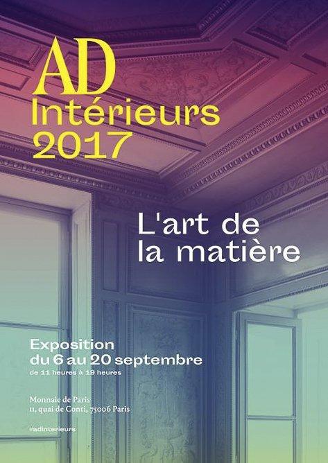 AD intérieurs 2017 exposition Art de la matière